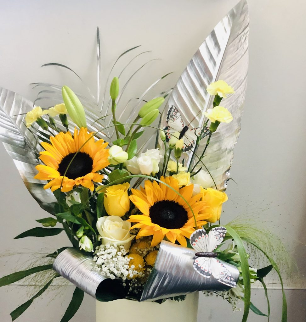 Ray of silver sunflower.£35.